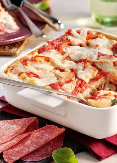 Aoste Salami-Lasagne